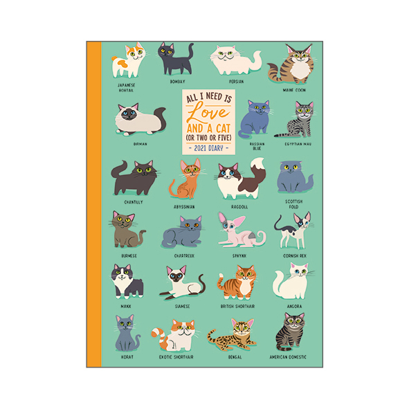 Legami: Mini Photo Weekly 12 Month 2021 Diary - Cats (8 x 11cm)