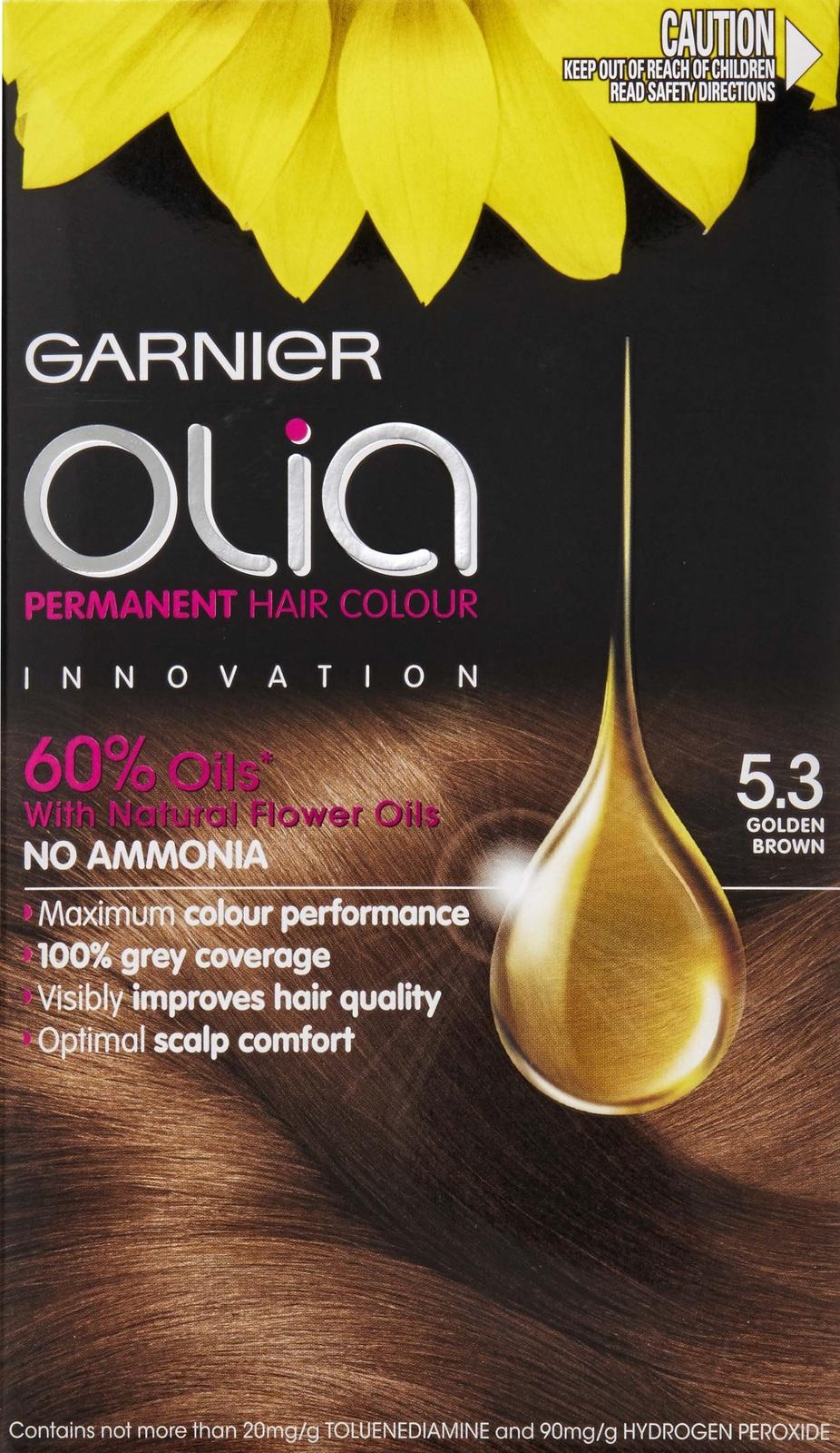 Garnier olia permanent hair colour golden brown 5 3 - Garnier Olia Permanent Hair Colour 5 3 Golden Brown Image