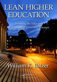 Lean Higher Education by William K. Balzer image