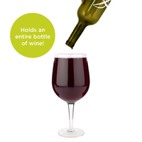 Big Swig: Full Bottle Wine Glass