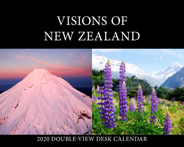 Visions of New Zealand 2020 Desk Easel - Double View Calendar