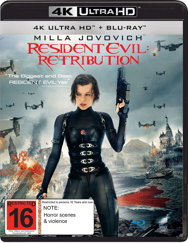 Resident Evil: Retribution (4K UHD + Blu-Ray) on UHD Blu-ray