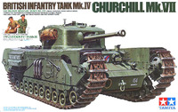 Tamiya British Churchill Mk.VII - Infantry Tank Mk.IV 1/35 Model Kit