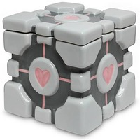 Portal Companion Cube Cookie Jar image
