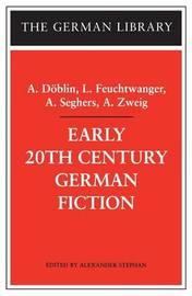 Early 20th Century German Fiction by Alfred Doblin image