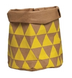 General Eclectic Triangles Washable Paper Bag - Tan & Yellow