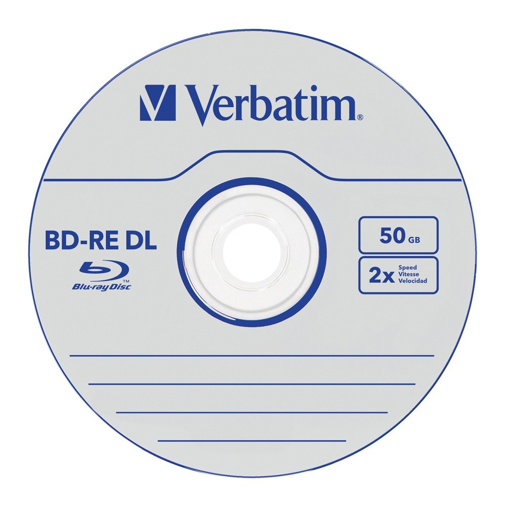 Verbatim BD-RE DL 50GB Jewel Case 2x (5 Pack) image