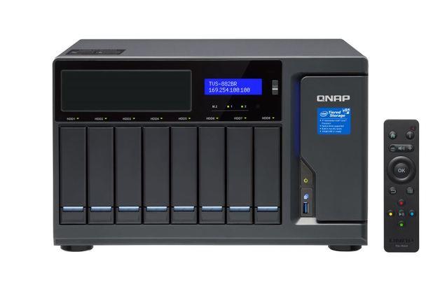 Qnap Tvs-882Br-Odd-I5-16G 8-Bay Nas (No Disk), 1 X Blu-Ray , Core I5-7500 3.4 Ghz, 16Gb, 250W