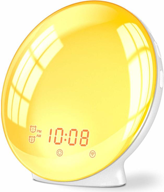Ape Basics Sunrise Wake Up Light Smart Home Alarm Clock