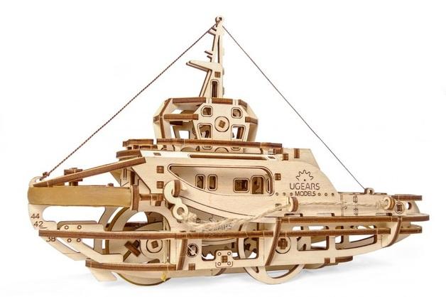 UGears: Tugboat - Mechanical Model Set
