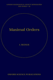 Maximal Orders by Irving Reiner image