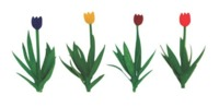 JTT: O Scale Scenic Tulips - 36 Pack
