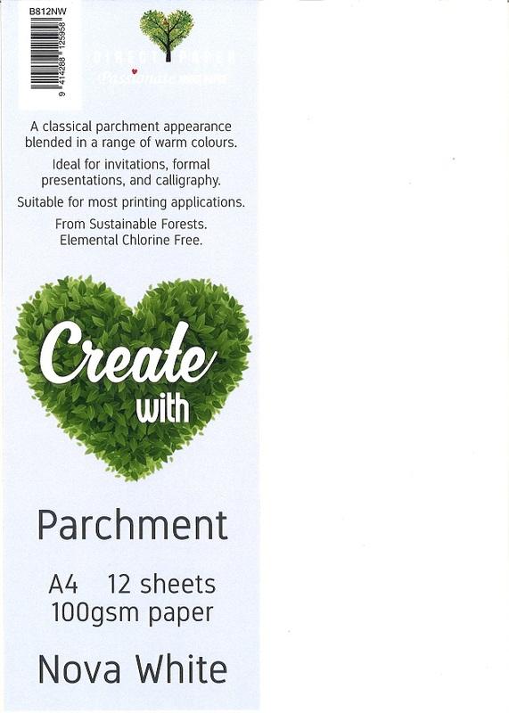 Parchment Paper A4 100gsm - Nova White (12 Pack)