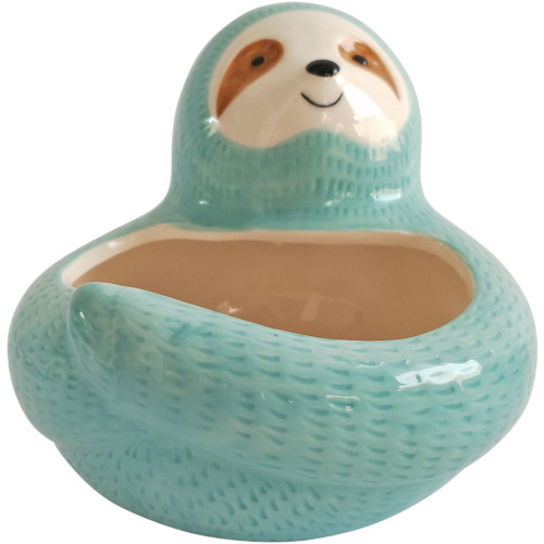 Planter Pets: Hugging Sloth - Blue (13cm)