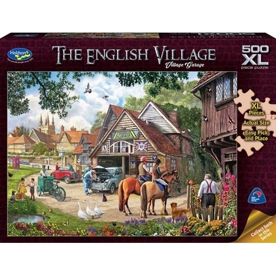Holdson: The English Village - Village Garage 500 Piece XL Puzzle