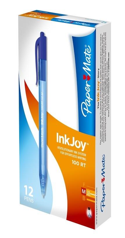 Paper Mate InkJoy Ballpoint Pen 1.0 - Blue (12 Box) image