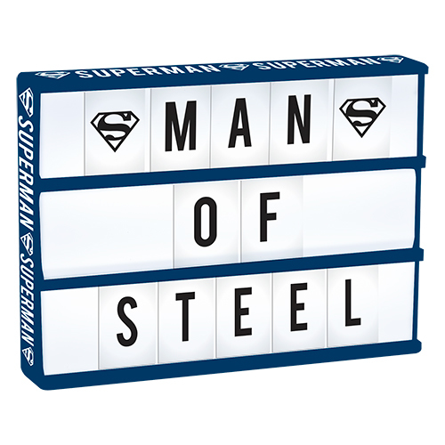 Superman Light Up Cinema Box With Letters
