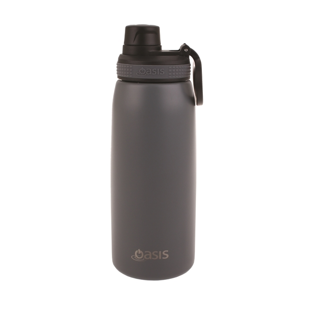 Oasis Stainless Steel Double Wall Insulated Sports Bottle - Steel (780ml)