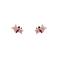 Short Story Earrings Allure - Pink and Purple image