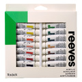 Reeves Acrylic Colour Paints 10ml - Set of 18