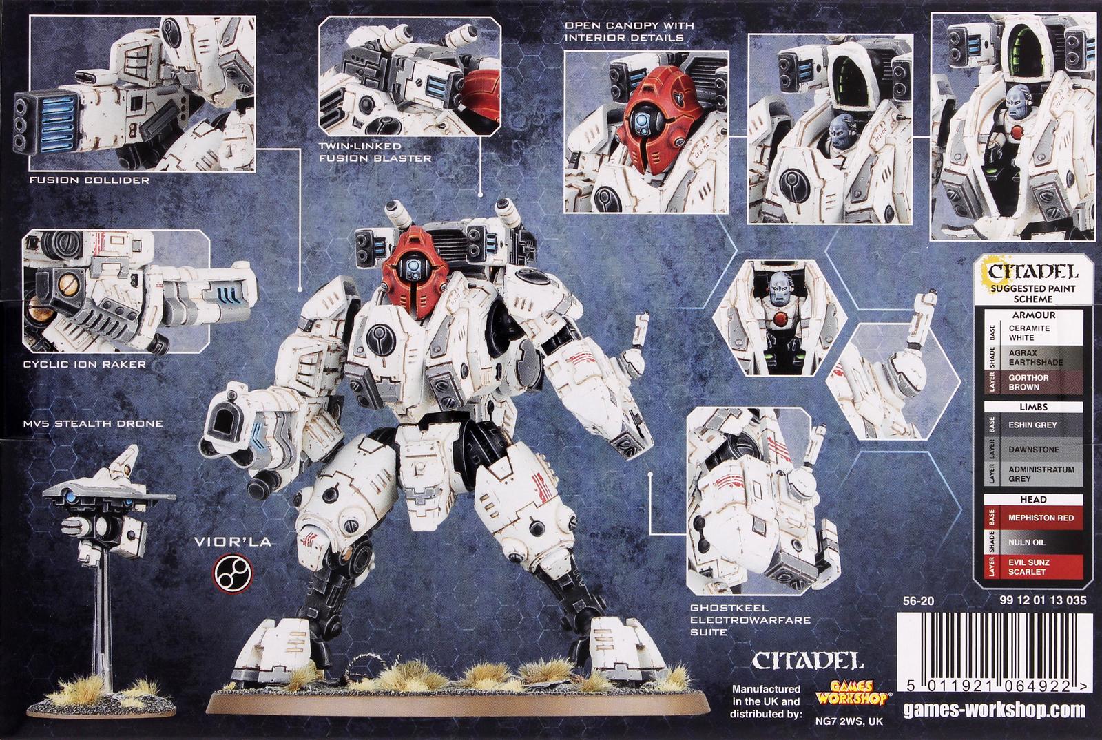 Warhammer 40 000 Tau Empire Xv95 Ghostkeel Battlesuit