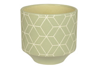 pt Plant Pot - Jade Hexagon (Large)