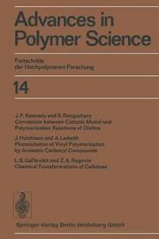 Advances in Polymer Science by H J Cantow