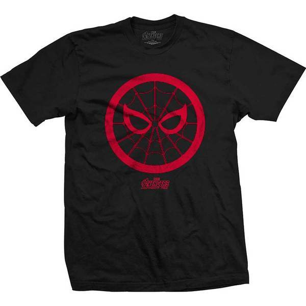 Avengers Infinity War Spidey Icon Mens Black TS: XL