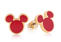 Disney Couture: Mickey Mouse Stud Earrings - (Yellow Gold)
