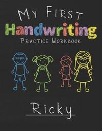 My first Handwriting Practice Workbook Ricky by Ricky Publshing image