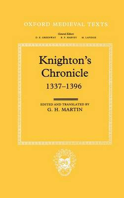 Knighton's Chronicle 1337-1396 by Henry Knighton image