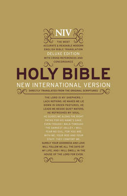 NIV Deluxe Hardback Bible by New International Version image