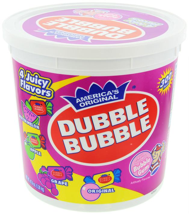 Dubble Bubble 4 flavor Tub (1.3kg)