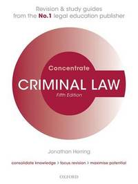 Criminal Law Concentrate by Jonathan Herring