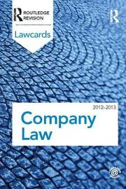 Company Lawcards 2012-2013 by Routledge image