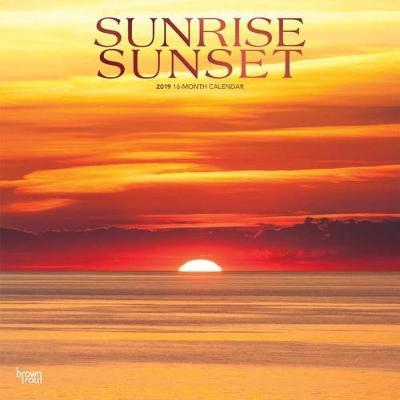 Sunrise Sunset 2019 Square Wall Calendar by Inc Browntrout Publishers image