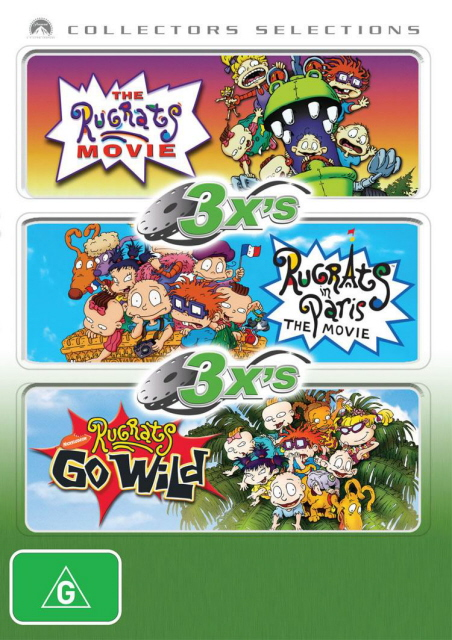 3x's - Rugrats Movie / Rugrats In Paris / Rugrats Go Wild (Collectors Selections) (3 Disc Set) on DVD image