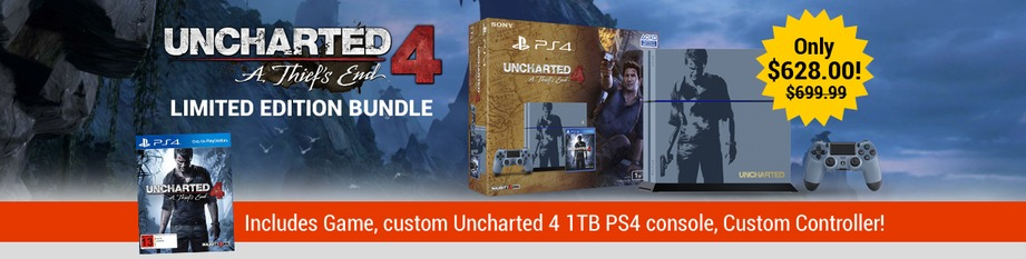 PS4 Uncharted console