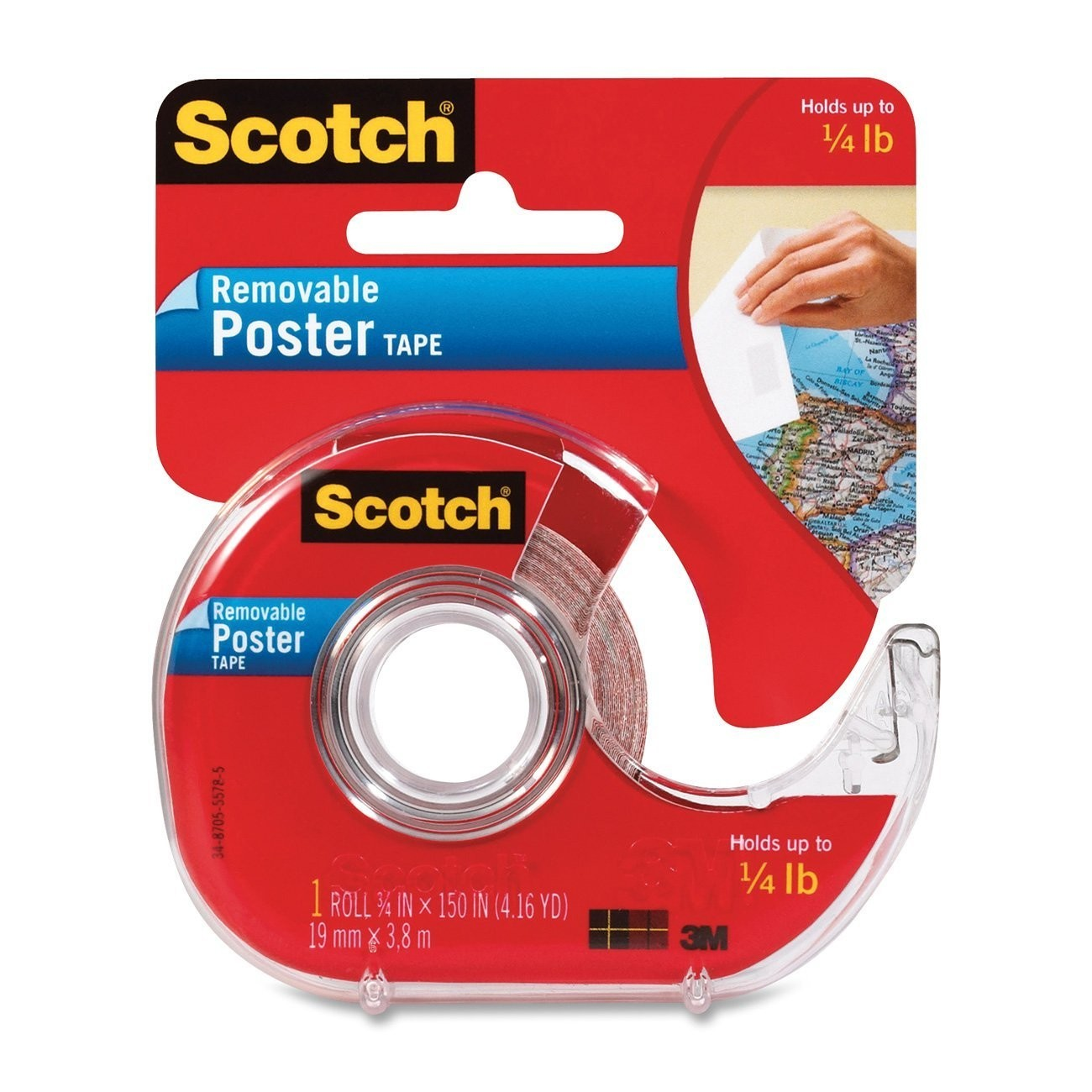 Scotch 109 Removable Poster Tape 19mm x 3.81m image