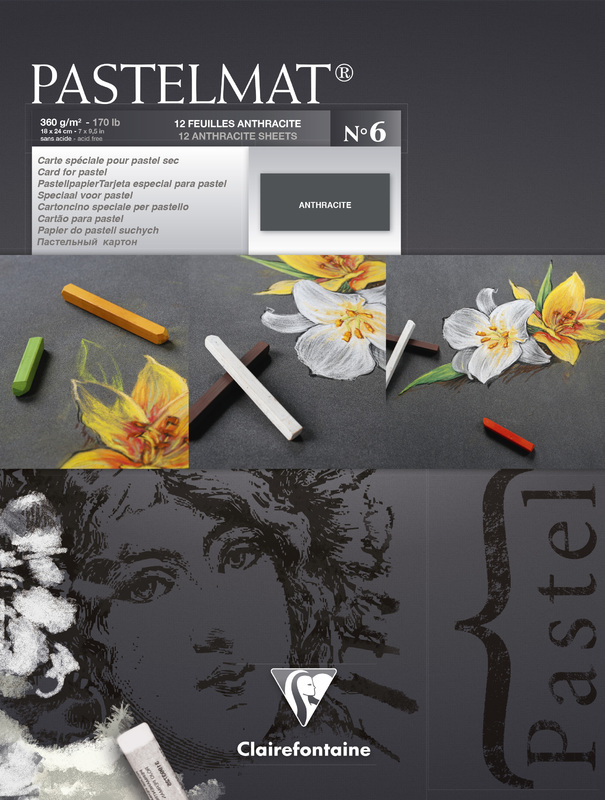 Clairefontaine: Pastelmat Pad 18x24cm - Anthracite No 6
