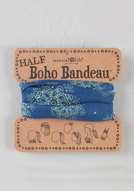 Natural Life: Half Boho Bandeau - Indigo Cream Mandala