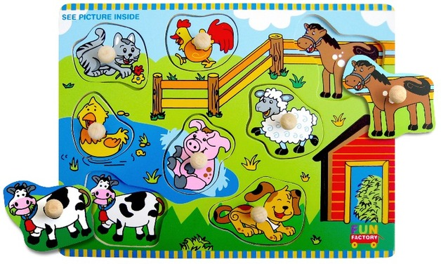 Fun Factory: Farm House Puzzle With Knobs