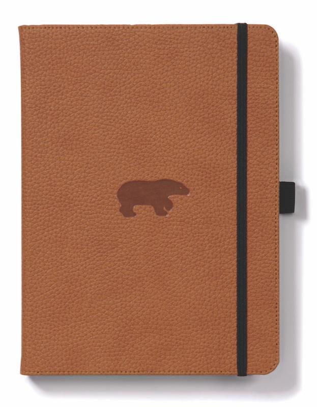 Dingbats Wildlife: A5 Brown Bear Notebook - Lined