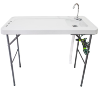 Premium Foldable Camping and Filleting Table with Folding Tap and Cleaning Hose image