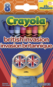 Brit Invasion Minions Crayons
