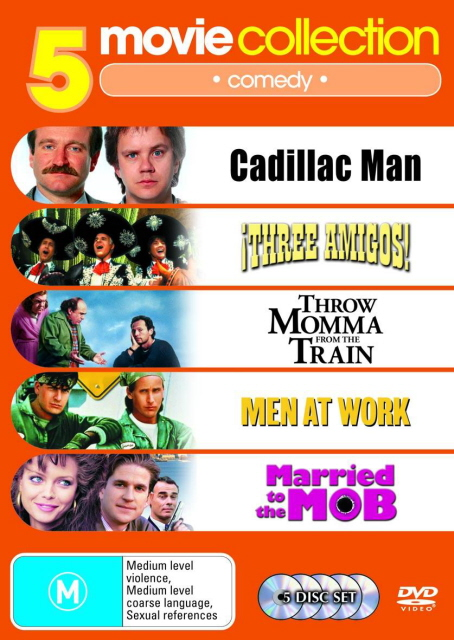 Cadillac Man/Three Amigo's /Throw Momma From The Train/ Men At Work/Married to the Mob (5 Disc Set) on DVD image