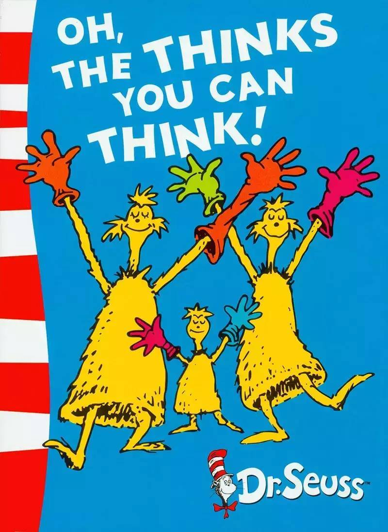 Oh, the Thinks You Can Think!: Green Back Book by Dr Seuss image