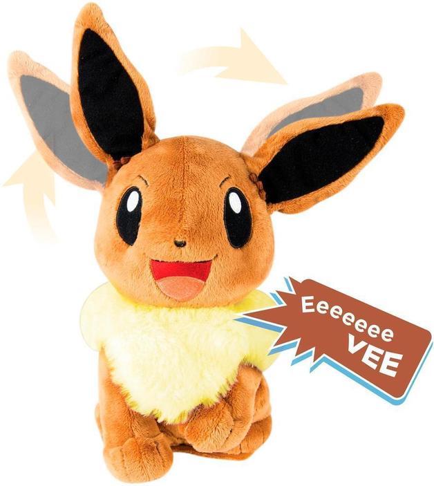 "Pokemon My Friend Lights and Sounds Plush Eevee 10"""