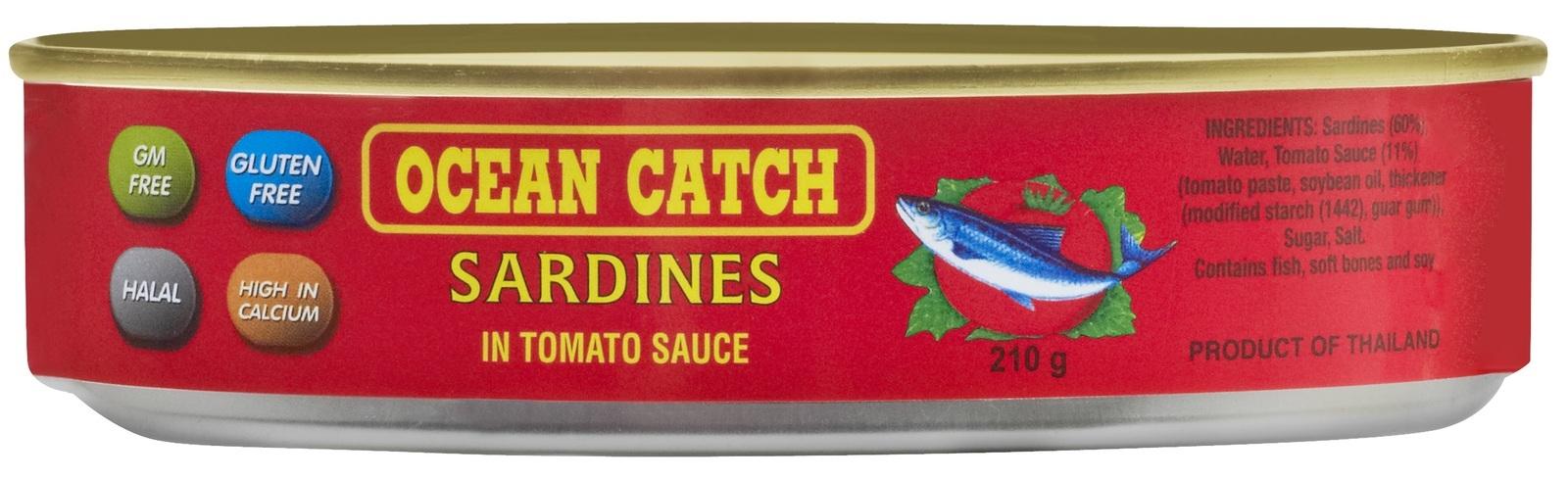 Oceancatch Sardines in Tomato Sauce 210g (12 Pack) image