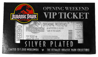 Jurassic Park: VIP Ticket (Silver Plated) - Metal Replica image